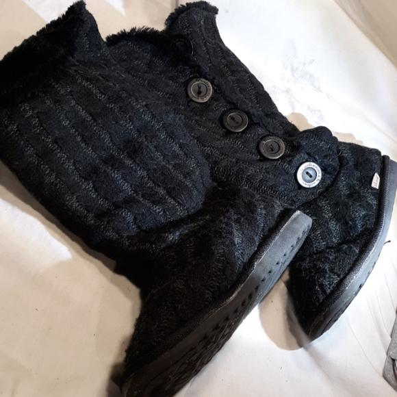Mukluk button up soft boots